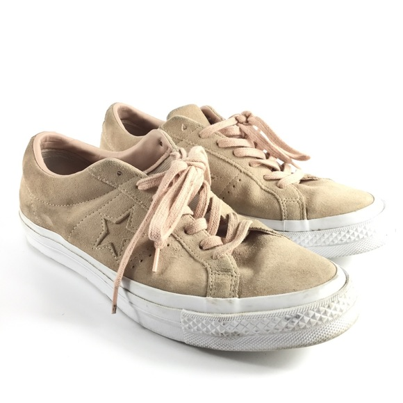 Converse One Star Blush Light Pink Suede Sneakers